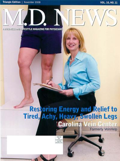 MD News, Carolina Vein Center, Press, Dr Lindy McHutchison